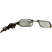 Lorgnette With Marcasite Decoration