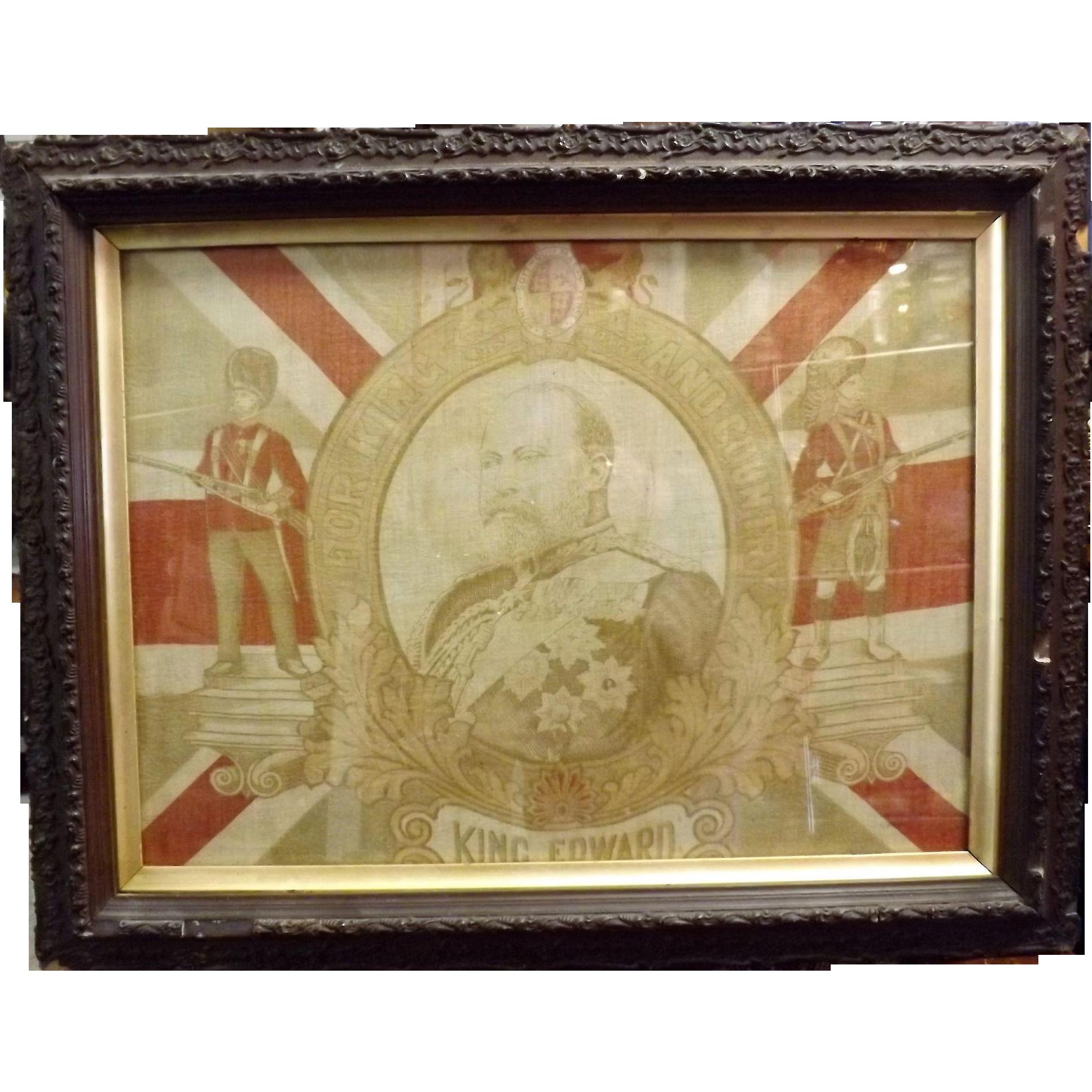 King Edward VII Framed Flag 1901