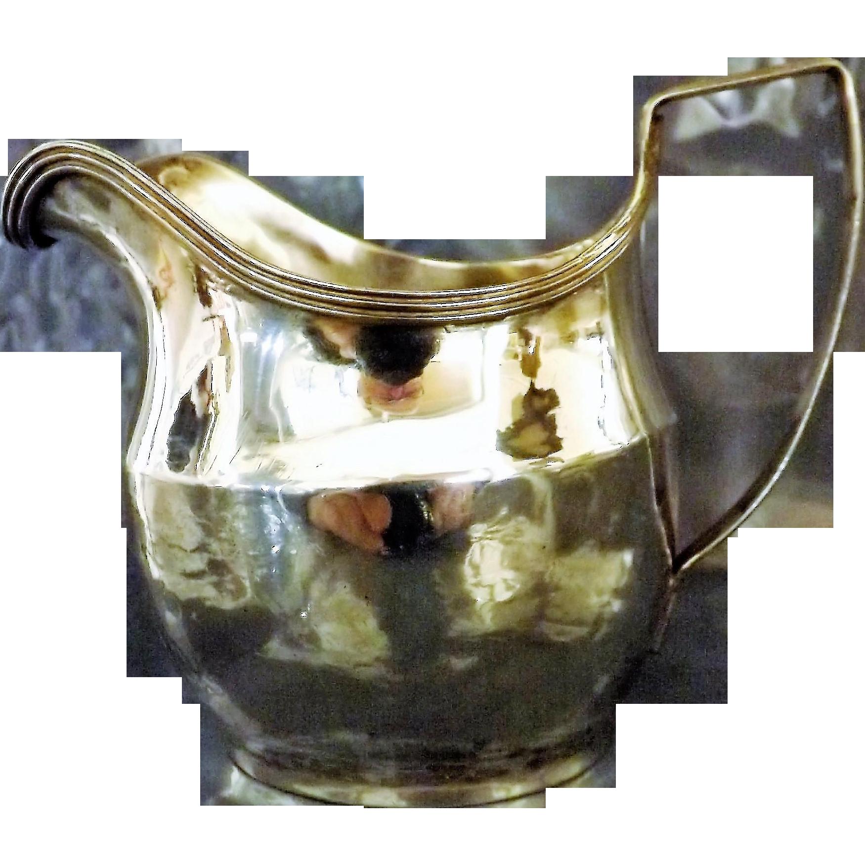 Georgian Sterling Silver Creamer - London 1807