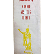 Hawaiian Visitors Bureau 1959  Hawaii Island Tourist Pamphlet