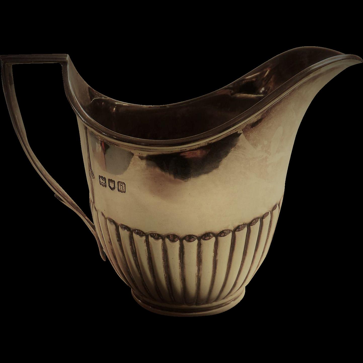George V Sterling Silver Creamer - 1924