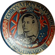 1937 Corononation Kind Edward VIII - 1937 Tin Badge