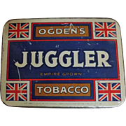 Juggler Tobacco Tin By Ogdens of Great Britain