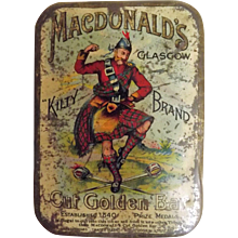 MacDonald's 'Kilty Brand' Cut Golden Bar Tobacco Tin