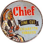CHIEF Tobacco Tin - Fletcher, Humphreys & Co  New Zealand