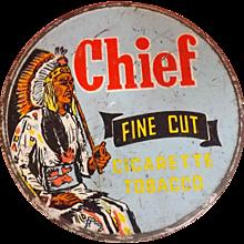 CHIEF Tobacco Tin - Fletcher, Humphreys & Co  New Zealand