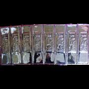 A Set Of Eight Presed Brass Art Nouveau Door Push Plates