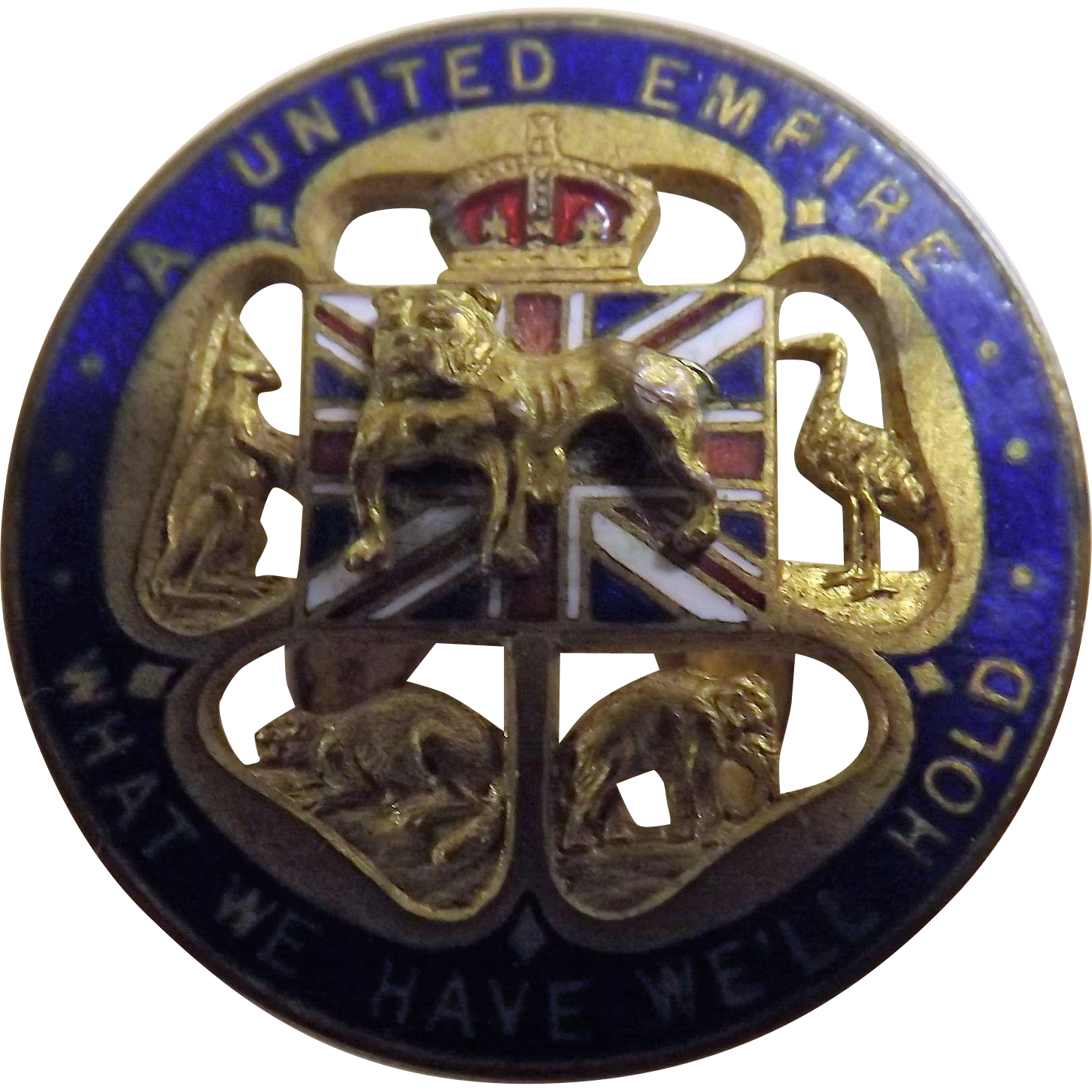 British Bulldog World War II Patriotic Badge