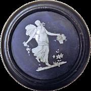 STUNNING 1912  Mounted Ceramic Pot Lid
