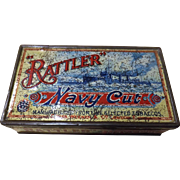RATTLER Navy Cut Tobacco Tin Circa 1910
