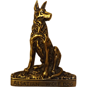 Alsatian Wolf Dog Brass Door Knocker