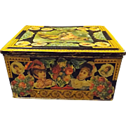 Charming Victorian Decoupage Tin
