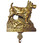 Aberdeen Terrier Dog Door Knocker