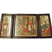 19th Century Triptych of The St. John Altarpiece