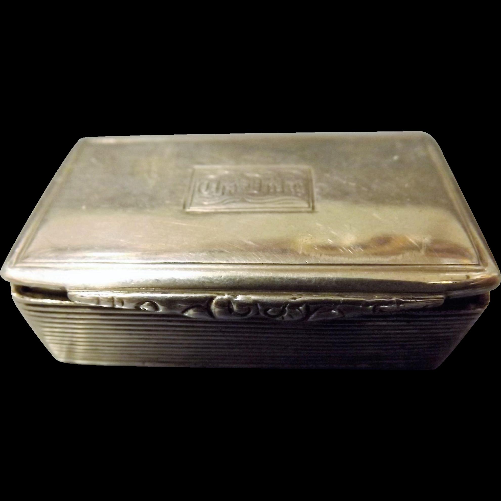 Early Victorian Sterling Silver Snuff Box - Birmingham 1840