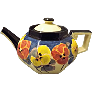 "Gorgeous Royal Doulton Art Deco ""Pansies"" Teapot"
