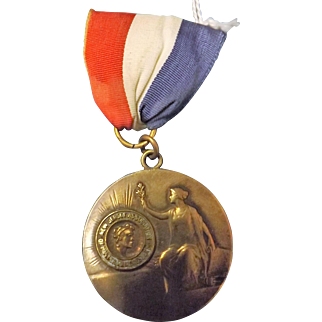 Old NEW JERSEY Association of Master Hairdressers Medal