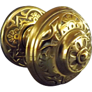 Slendid Ornate Victorian Brass Door Pull