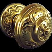 Slendid Ornate Victorian Brass Door Pull