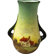 Royal Doulton Miniature Series Vase  -  English Countryside 1901-1922