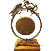Victorian 'Scottish Dragon' Dinner Gong -Circa 1860 - 1870