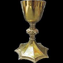 Antique Irish Silver Chalice 19th Century