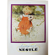 L'IIlustration French Magazine Original 1937 NESTLE Advertisement
