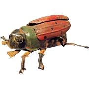 Antique Wind-up Tin Toy BEETLE