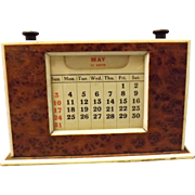 Art Deco Day / Date Desk Calendar Circa 1930's