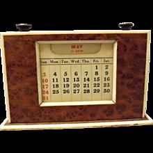 Art Deco Day / Date Desk Calendar Circa 1930's