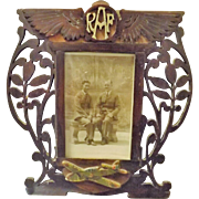 World War Two RAF Hand Made Photo Frame