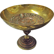 Gorgeous Victorian 1874 TAZZA in Brass & Copper