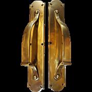 GENUINE 1905 Art Nouveau Pair of Door Pulls