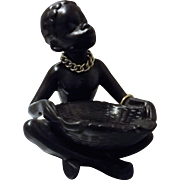 Black Native Girl Ornamental Ashtray - Circa 1960 's