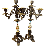 An Elegant Pair of French Candelabras -Circa Late 19th Century