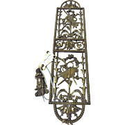 Victorian Ornate Brass Finger Plate  / Push Plate