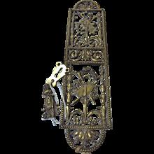 Victorian Ornate Brass Finger Plate  / Push Plate