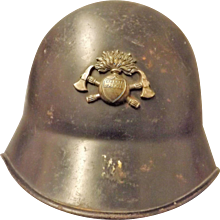 Swiss Fireman's Helmet Circa 1950 's