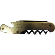 MARTINI Vermouth Wine Waiters Knife Circa  1940 - 1950's