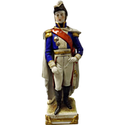 Figurine of Napoleon General LANNES  by Schei -Alsbach Porzelain Germany