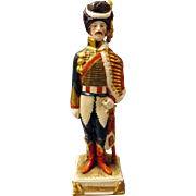 Figurine of Napoleon General Beauharnais  by Schei -Alsbach Porzelain Germany