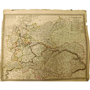 "Original ATLAS MAP of Germany Circa 1840 Published By ""The Society for the Diffusion of Useful Knowledge"""