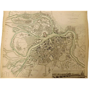 "An Original Atlas Map of St. PETERSBURG Circa 1834 Published By ""The Society For The Diffusion of Useful Knowledge"""