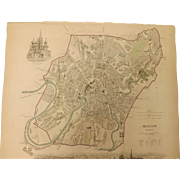 "An Original Atlas Map of  MOSCOW  Published By ""The Society For The Diffusion of Useful Knowledge"""