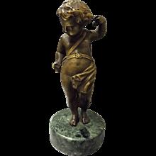 Bronze Cherub - France Late 19th Century