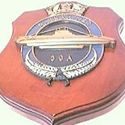 Vintage OCA  Navy Submarine  Plaque
