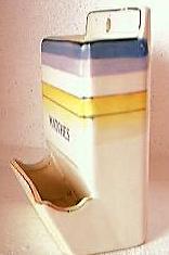 RETRO 1940's-50's Porcelain Matchbox Holder
