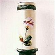 Large & Imposing Victorian Hand Painted Glass Vase