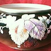 Victorian Hand Painted & Embossed Porcelain Jardiniere