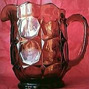 Vintage Large Amber Glass Water Jug Circa 1920's-40's